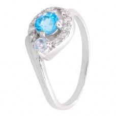 Кольцо с голубым топазом k2b382458bt