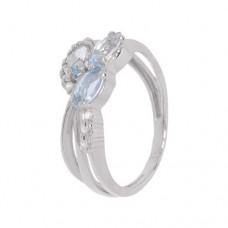 Кольцо с голубым топазом k2b390467bt