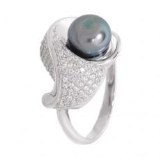 Кольцо с жемчугом k2b439528zhem