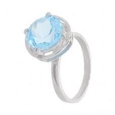 Кольцо с голубым топазом k12728bt
