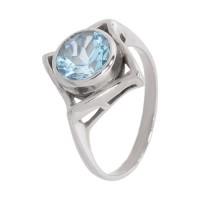 Кольцо с голубым топазом k271549bt