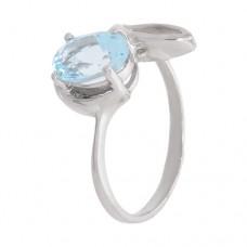 Кольцо с голубым топазом k311217bt