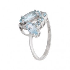 Кольцо с голубым топазом k311294bt