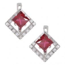 Серьги с рубином c5R0198htrucz