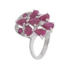 Кольцо с рубином k14117sru