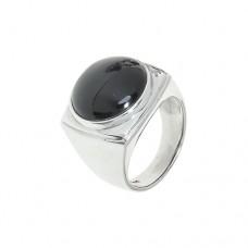 Кольцо c черным агатом k1r1274agb