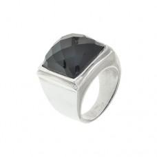 Кольцо c черным агатом k281265agb