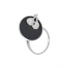 Кольцо c черным агатом k320292agb