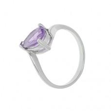 Кольцо с аметистом k16693am