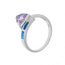 Кольцо с аметистом k16719am