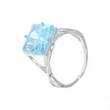 Кольцо с голубым топазом k13726bt