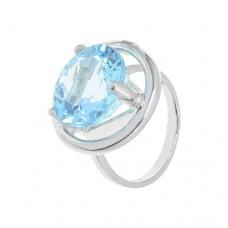 Кольцо с голубым топазом k24519bt