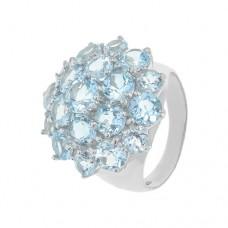 Кольцо с голубым топазом k28044bt