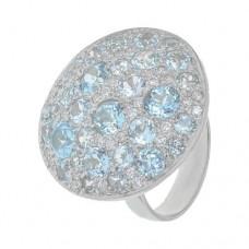 Кольцо с голубым топазом k301640btcz