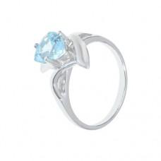 Кольцо с голубым топазом k400821bt