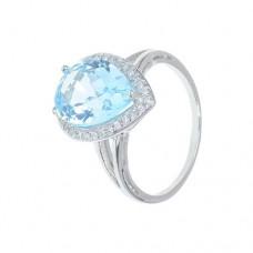 Кольцо с голубым топазом k402107btcz