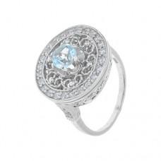 Кольцо с голубым топазом k5r0197bt