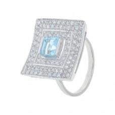 Кольцо с голубым топазом k5r0199bt