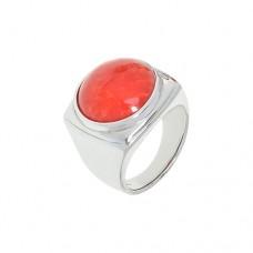Кольцо с кораллом k2r1274cor