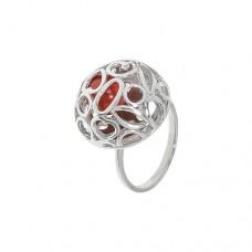Кольцо с кораллом k2r301cor
