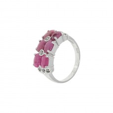 Кольцо с рубином k14313srum