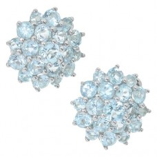 Серьги с голубым топазом c28044bt