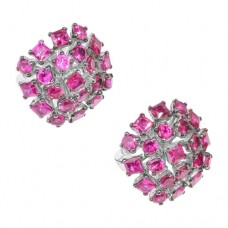 Серьги с рубином c3r13360htru